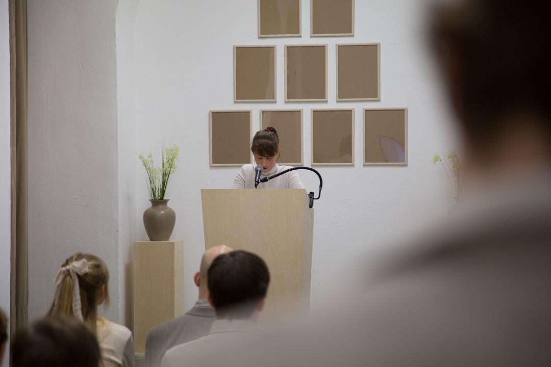 Wiedergabesalon: Ilona Kohut am Rednerpult